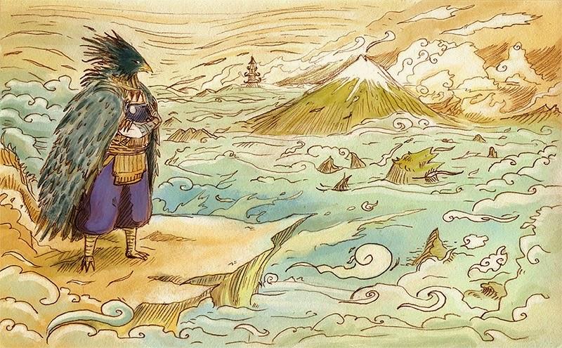 karasu_tengu_2_watercolors_by_dajikun-d5k6hri