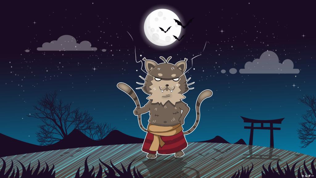鍋島の化け猫 - кіт-вампір Набешіма